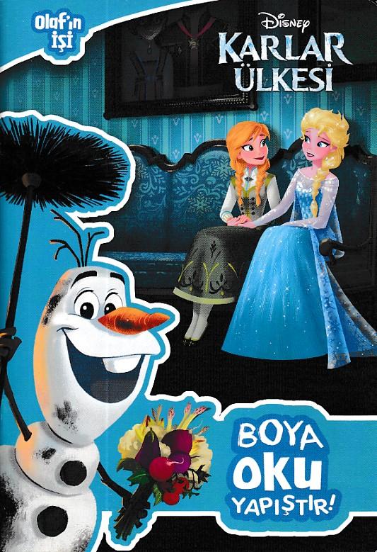 Disney Karlar ülkesi Olafın Işi Boya Oku Yapıştırbasari Dagitim