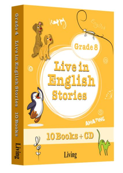 Grade 8 Live in English Stories 10 Books CD