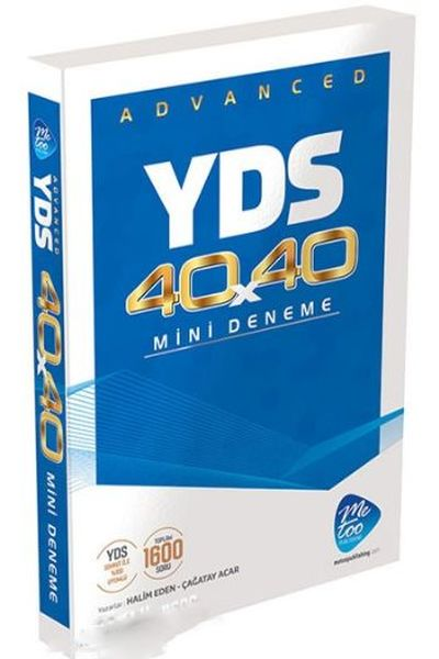 Me Too Publishing YDS Advanced 40x40 Mini Deneme
